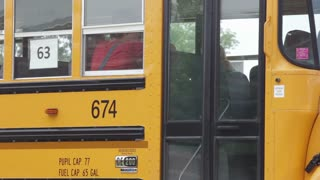 Students Exiting Bus