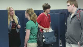 Students Socializing at Lockers
