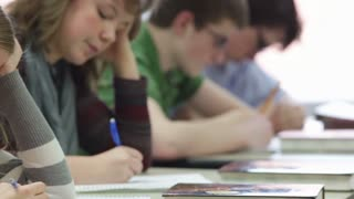Students Taking Test in Class