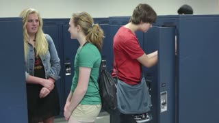 Students Talking at Lockers