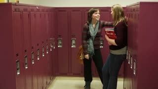 Students Talking By Lockers