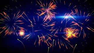 stylized fireworks seamless loop animation 4k (4096x2304)