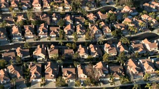 Suburb House Neighborhood Aerial