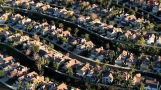 Suburban Town Aerial