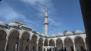 Suleymaniye Mosque Courtyard and Spire