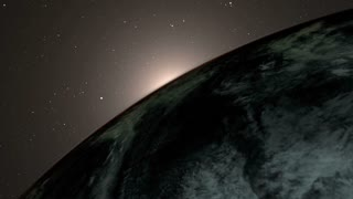 Sun Rising From Earth Animation