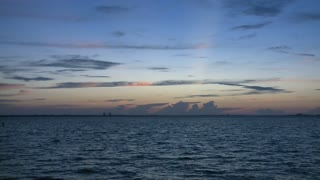 Sun Rising Over Open Seas Timelapse