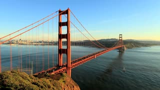 Sun Setting Golden Gate Bridge Timelapse