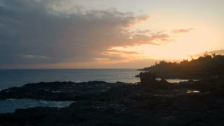 Sun Setting On Poipu Beach