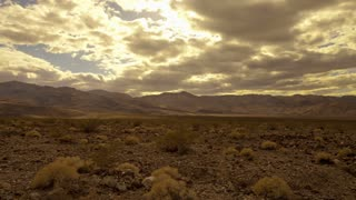 Sunny Cloudy Sky In Death Valley