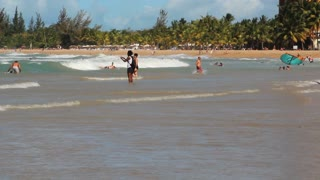 Sunny Day On Puerto Rico Beach