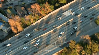 Sunny Highway Aerial View