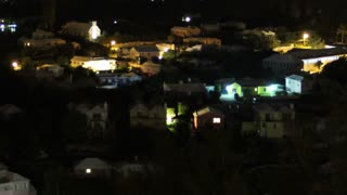 Sunrise Timelapse Over Colorful Houses in Bermuda