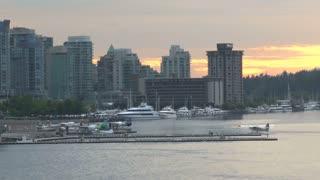 Sunset Behind Harbor