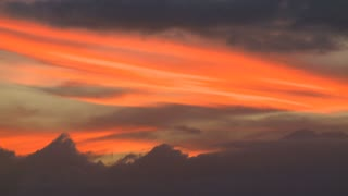 Sunset Burning Orange Clouds Timelapse
