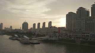 Sunset of Yalu River Near Broken Bridge 2