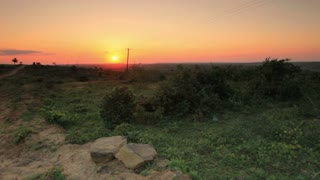 Sunset on the Horizon in Kenya