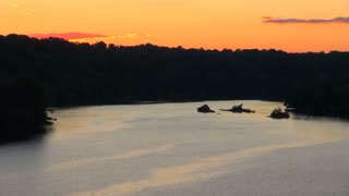 Sunset on the Potomac River in Washington DC