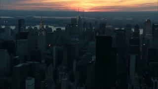 Sunset Over New York City Aerial 6