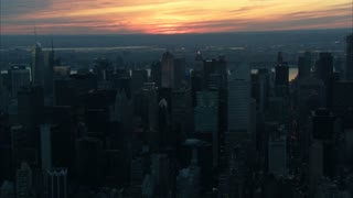 Sunset Over New York City Aerial 7