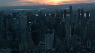 Sunset Over New York City Aerial 8