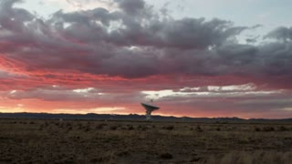 Sunset Satellite Antenna Dish Timelapse
