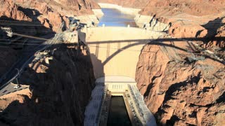 Sunset Shadow Over Hoover Dam