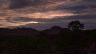 Sunset Timelapse In Capitol Reef National Park