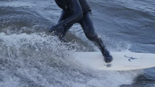 Surfing in cold water - Wet Suit Extreme Sports