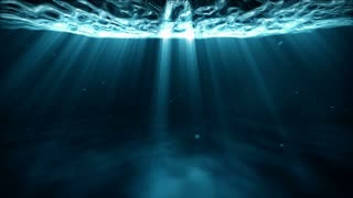 Surreal Underwater Travel Light Rays Loop