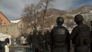 Swat Team Behind Scenes On Movie Set