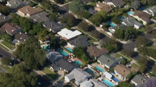 Sweeping Suburban Homes Aerial 2