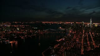Sweeping View of NYC at Night 1