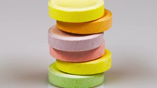 Sweet Tart Candies Stacked