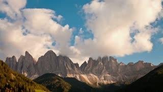 T/L Geisler Spitzen 3060m, Val di Funes, Dolomites mountains, Trentino Alto Adige, South Tirol, Italy, Europe