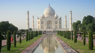 Taj Mahal Centered, UNESCO World Heritage Site, Agra, Uttar Pradesh state, India