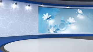 Talkshow TV Studio Set 02 - Virtual Green Screen Background Loop