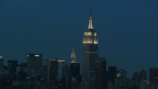 Tall Empire State Building Cityscape Aerial