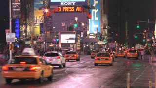 Taxi Cabs and Traffic in Times Square 2