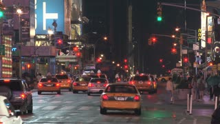 Taxi Cabs and Traffic in Times Square 3