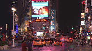 Taxi Cabs and Traffic in Times Square