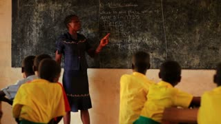 Teacher in Classroom in Kenya 2