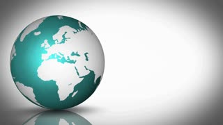 Teal Globe With White Background