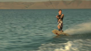 Teenage Boy Wakeboarding