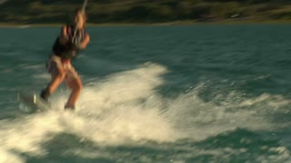 Teenage Girl Wakeboarding