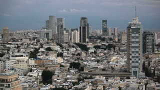 Tel Aviv, elevated city view towards the commercial and business centre,  Middle East, Israel,