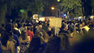 Tel Aviv protest street crowd 7