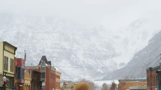 Telluride Against Mountain Backdrop