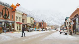 Telluride Christmas Decorated