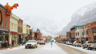Telluride Nestled in Mountains